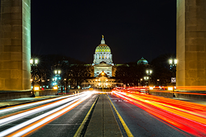 Harrisburg-Capitol-night